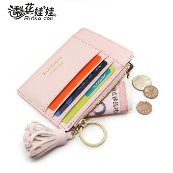 Wallets Coin Card Bags Genuine Leather Purse Designer Clutch SlimThin Money Bag Coin Pocket Gifts for Women(pink) - intl