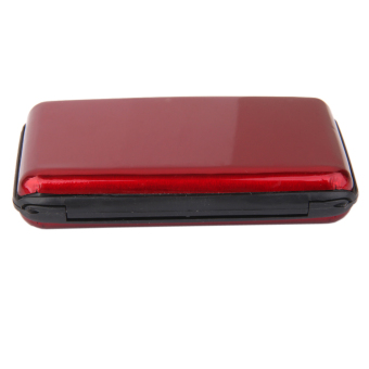 Waterproof Aluminum Metal Case Business ID Credit Card Holder Red