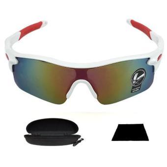 Wawawei Men's Outdoor RockBros Polarized Cycling Bike BicycleSunglasses Glasses Goggles 29824/UV400 (White)
