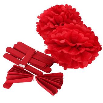 Wedding Tissue Paper Crafts Set of 10 (Red)