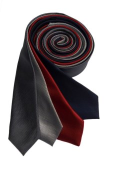 Well Suited Microcheck Slim Necktie Combo C