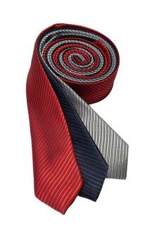 Well Suited Solid Stripe Slim Necktie Combo 5