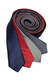 Well Suited Solid Stripe Slim Necktie Combo D