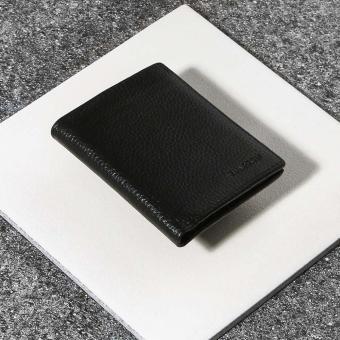 Wharton Mens Genuine Leather Bifold Wallet (Black)