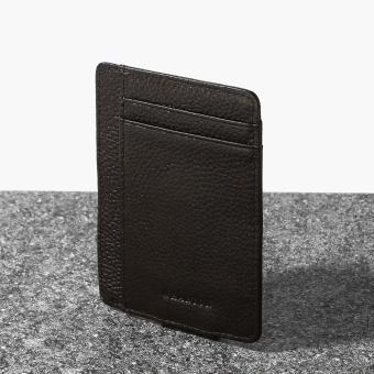 Wharton Mens Genuine Leather Money Clip (Brown)
