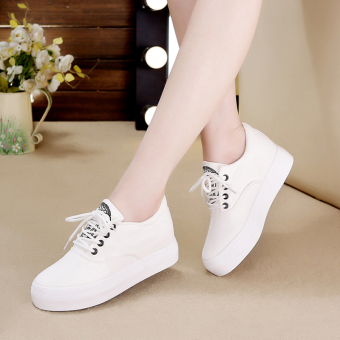 White autumn and winter New style Elevator female cloth shoes (White within the higher Models)