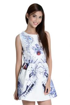 Winter Color Dress by Fashion HausOnline (White)