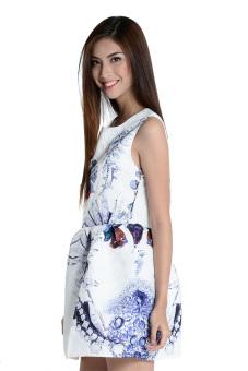 Winter Color Dress by Fashion HausOnline (White) - picture 2