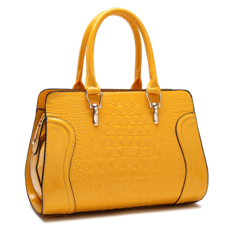 Winter New style crocodile Pattern Bag (Yellow)