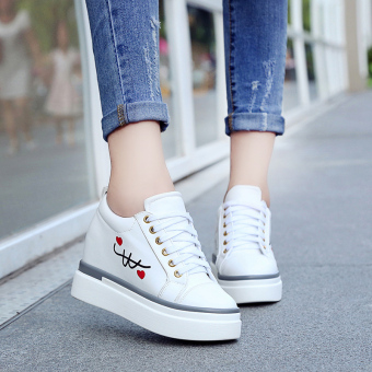Within the higher New style spring and summer casual shoes white shoes (White [comfortable breathable])