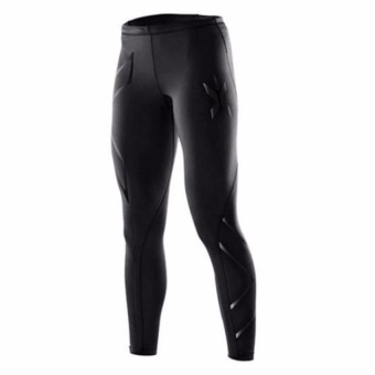 Women 2Xu Professional Pants Trousers Compression Speed DryNylonstretch Fitness Pants (Black) - intl