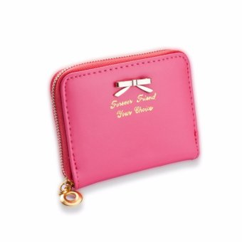 Philippines | Women Butterfly Knot Zipper Coin Purses Small Bags Card HolderWallet (Watermelon Red) - intl Price Me