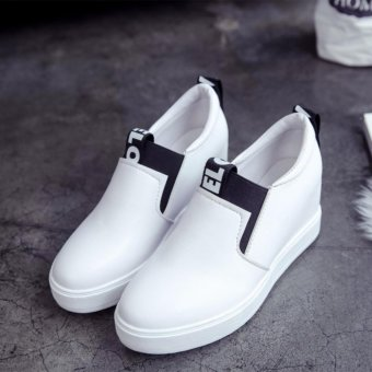 Women Casual Shoes High Tops Breathable Wedges Platform WomanSummer Autumn High Heel Wedge Boots - intl - 2