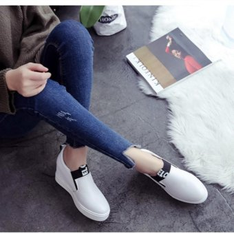 Women Casual Shoes High Tops Breathable Wedges Platform WomanSummer Autumn High Heel Wedge Boots - intl - 3