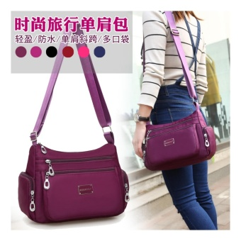 Women Crossbody Waterproof Nylon Messenger Shoulder Bags - intl