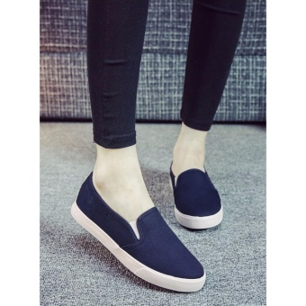 Women Fashion Slip on Loafer - Navy Blue