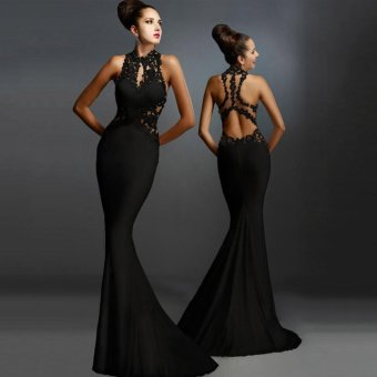 Women Formal Long Wedding Bridesmaid Evening Party Ball Prom GownCocktail Dress - intl