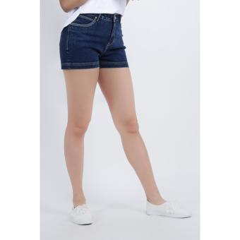 Women High Waist, Two Inch Denim Shorts (Blue)