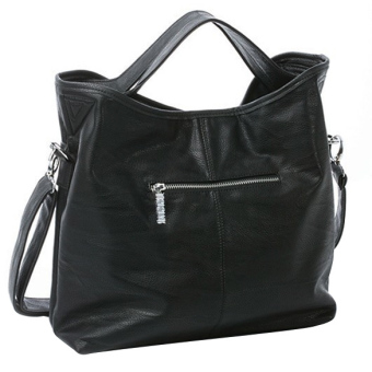 Women Hobo PU Leather Cross Body Shoulder Bag Black