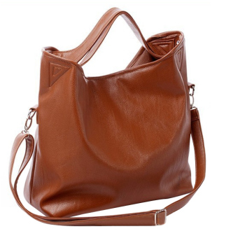 Women Hobo PU Leather Cross Body Shoulder Bag Brown