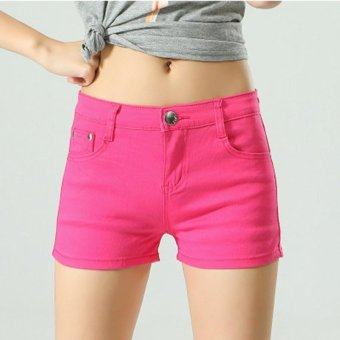 Women Ladies Candy Color Shorts Summer Denim Short Pant Jeans -intl