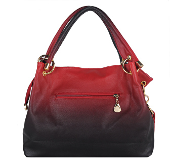 Women Lady's Classic Hollow Out Fine Pendant High Quality PU Casual Bag Tote Bag Handbag (Red) - picture 2