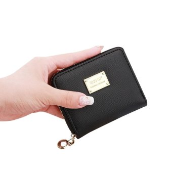 Women Leather Small Wallet Card Holder Zip Coin Purse ClutchHandbag - intl