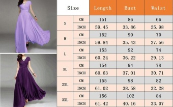 Women Long Formal Evening Prom Party Bridesmaid Chiffon Ball Gown Cocktail Dress - intl - 4