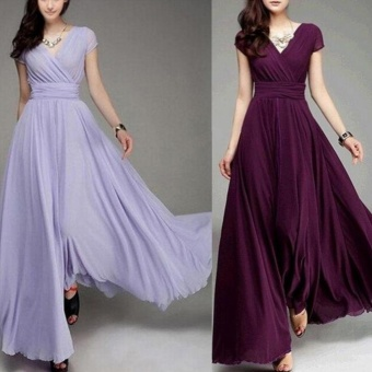 Women Long Formal Evening Prom Party Bridesmaid Chiffon Ball GownCocktail Dress - intl - 2
