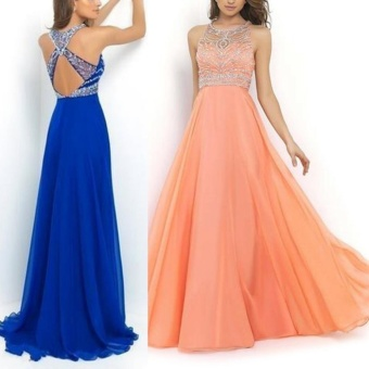 Women Long Maxi Bridesmaid Party Prom Cocktail Dress Formal EveningBall Gown (Color:c0) - intl - 3
