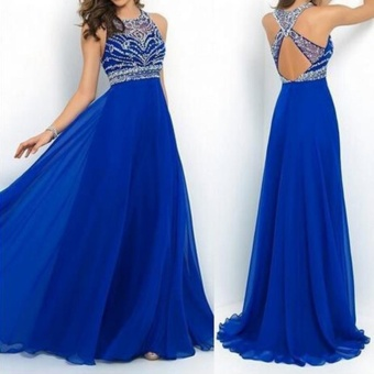 Women Long Maxi Bridesmaid Party Prom Cocktail Dress Formal EveningBall Gown (Color:c0) - intl