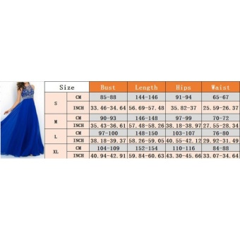 Women Long Maxi Bridesmaid Party Prom Cocktail Dress Formal EveningBall Gown (Color:c0) - intl - 4