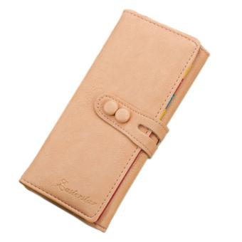 Women Long Purse Candy Soft Leather Clutch Wallet - intl