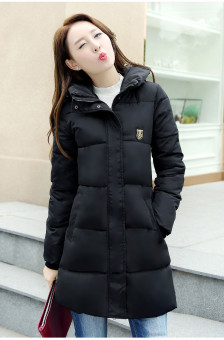 Women Long Winter Jacket Slim Female Coat Thicken Parka Down CottonClothing Red Clothing Hooded Student Black - intl