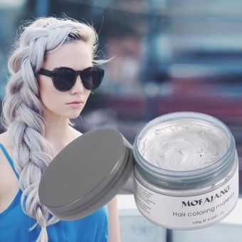 Women Men Disposable Hairstyle Modeling Hair Coloring Wax(Green) -intl - 5