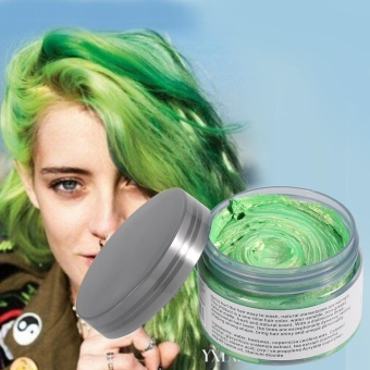 Women Men Disposable Hairstyle Modeling Hair Coloring Wax(Green) -intl