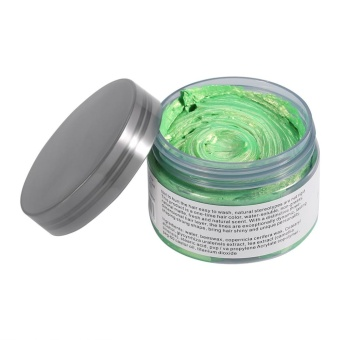 Women Men Disposable Hairstyle Modeling Hair Coloring Wax(Green) -intl - 2