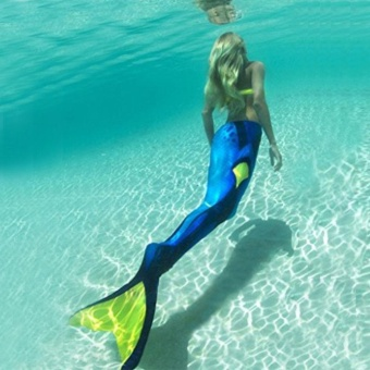 Women Mermaid Tail Swimmable Monofin Tail Swimming Costumes Flippers 04# - intl