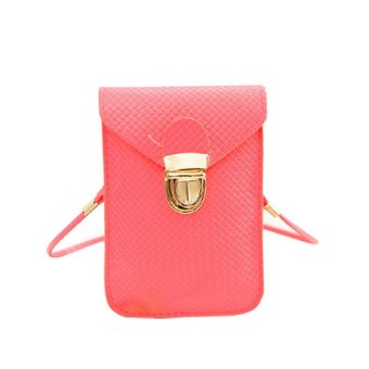 Women Mini Shoulder Bag Satchel Cross Body Purse Messenger Tote Handbag Pink