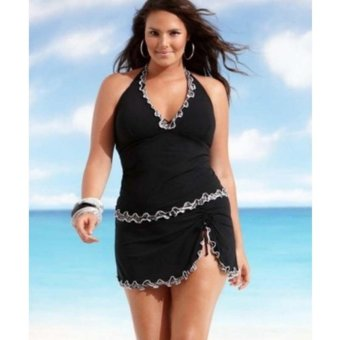 Women Push-up One-piece Swim Dress Swimsuit Bikini Swimwear - intl