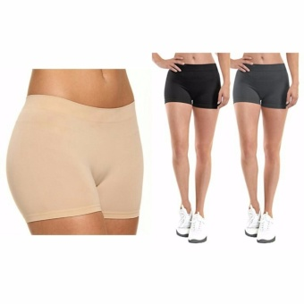 Women Sexy Cotton Boyshort Yoga Bike Shorts Cycling Shorts (Nude)