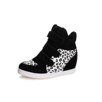 Women Shoes Autumn Winter Hidden Heel Flock Fashion Wedge Casual Shoes - intl - 2