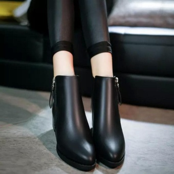 Women Shoes Vintage Fashion Ankle Boots Women Boots Side Zipper Shoes - intl - 5
