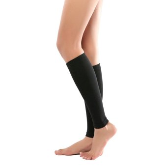 Women Sliming Leg Support Varicose Veins Circulation CompressionSocks Sports Black