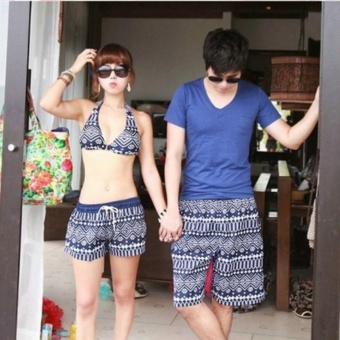 Women Summer beach shorts quick drying couple beach pants classicalshorts swim beach pants holiday swimsuit - intl