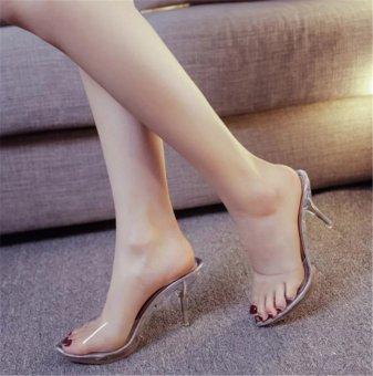 Women Summer Fashion Transparent High Heel Sandals Size 35-39(silver) - intl - 3