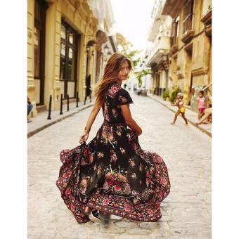 Women Summer Vintage Boho Long Maxi Evening Party Beach Dress Sundress - intl - 4