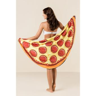 Women Sunblock Pizza Round Fashion Pool Home Picnic Beach TowelBlanket
