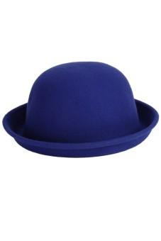 Women Vintage Bowler (Navy Blue)