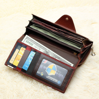 Women Wallet Brand Design Genuine Leather Multicolor Color (Intl) - 3